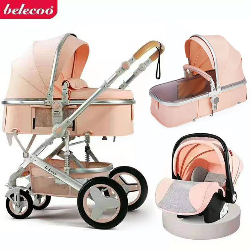 Baby Stroller 3 in 1 With Car Seat Luxury Travel Guggy Carriage Baby sledge And Pram Maman Home enlarge