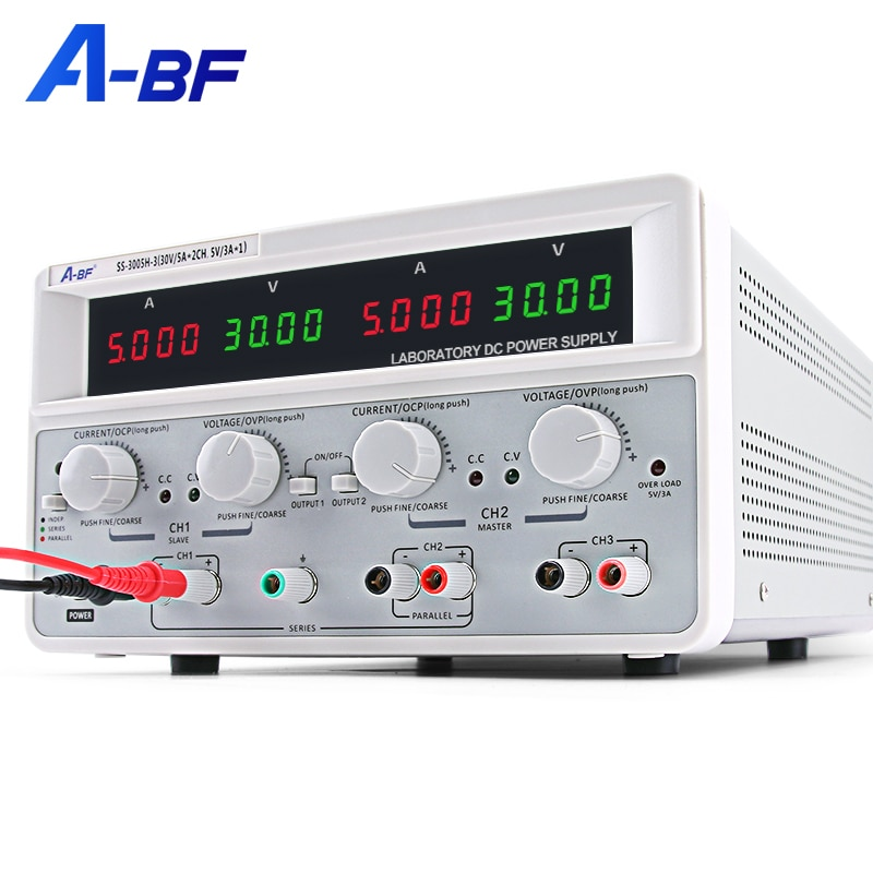A-BF متعددة قناة الخطي DC امدادات الطاقة قابل للتعديل مختبر ثلاثة طريقة الجهد منظم مختبر وحدة امدادات الطاقة 30V 60V 3A 5A