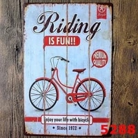 metal tin sign riding is fun decor bar pub home vintage retro poster cafe artvisit our store more products