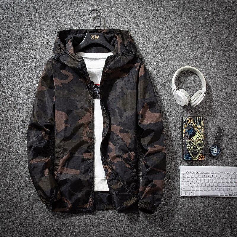 Легкие камуфляжные куртки Мужские приталенные пальто на молнии с капюшоном с длинным рукавом армейские тактические военные куртки мужская...