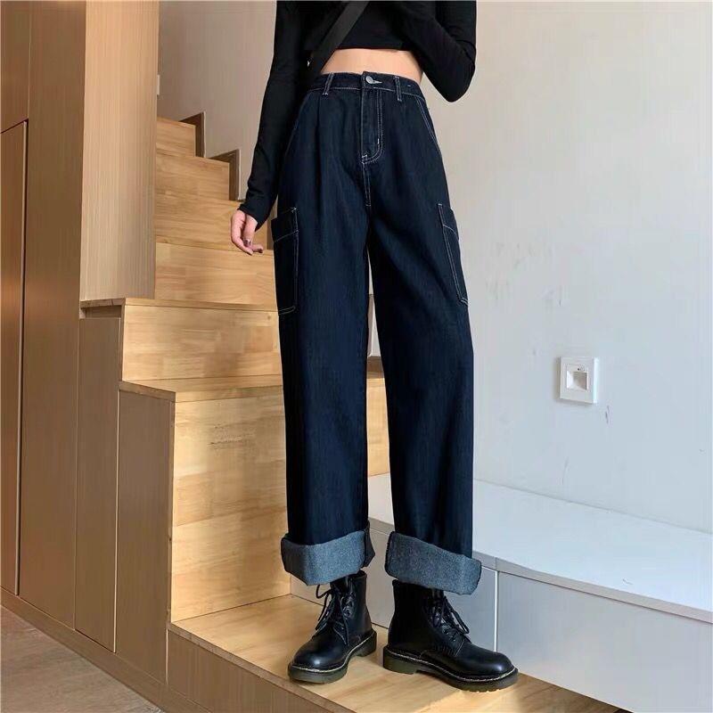 Women High Waist Jeans Femme Baggy Jeans Summer Oversized Pants Spring Wide Ninth Pants Female Loose