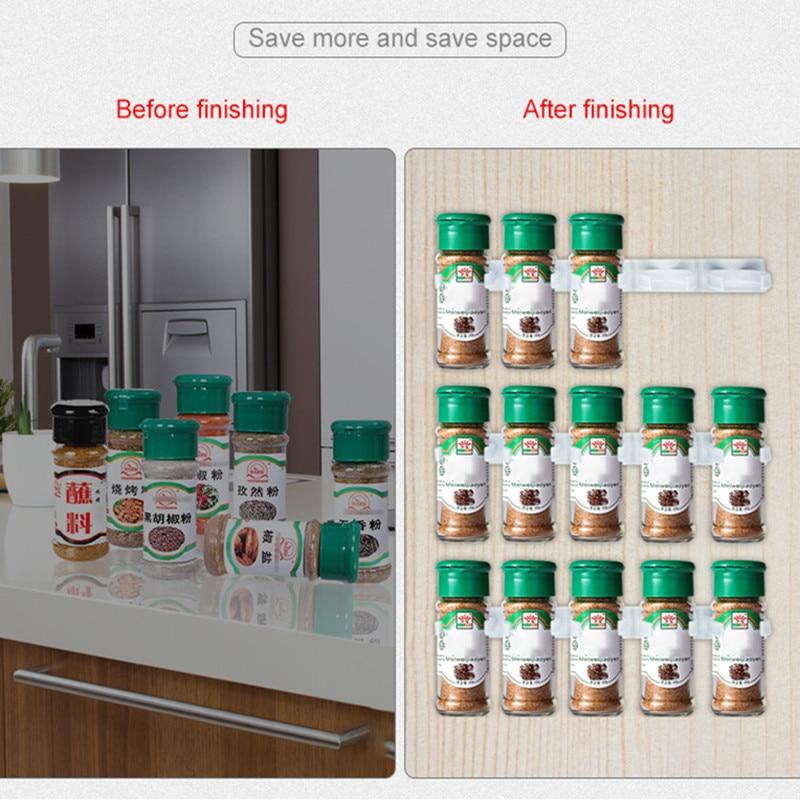 Spice rack montare pe perete organizator de bucătărie condiment - Organizarea și depozitarea în casă - Fotografie 2