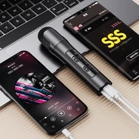 portable 3 5mm karaoke wireless condensator microphone for singing record smart phone laptop pc space printing mic microphone