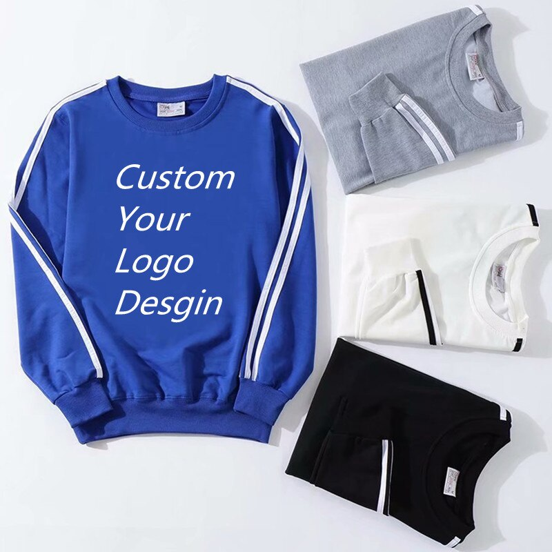 Sweatshirt T-shirt Round-neck Autumn And Winter Leisure Loose Long Sleeve Pullover Sweater Your Own Logo Advertising Shirt