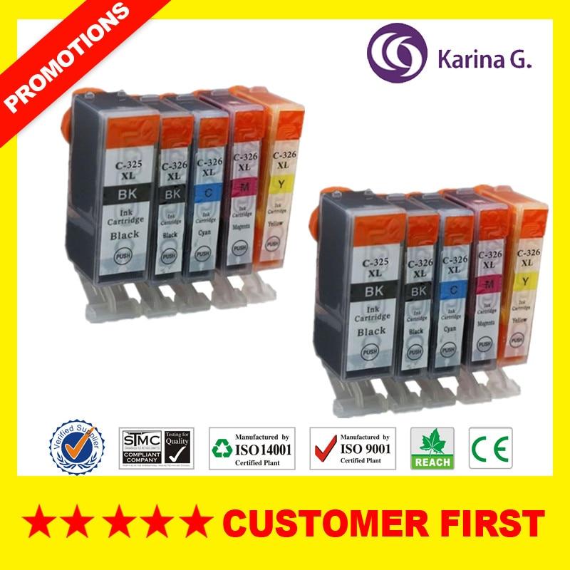 Compatível para cartuchos de tinta bci325 bci326 usados para canon pixus ip4830/ip4930 ix6530 mg5130 mg5230 mg5330 mg6130 mg6230 etc.