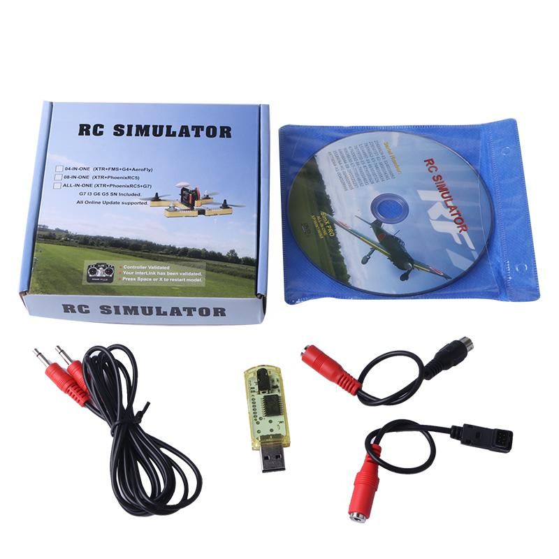 HIINST Computer Spiele RF7 22 in 1 RC USB Flight Simulator Set Fit für XTR G5 G6 G7 AeroFly PhoenixRC sep6HY