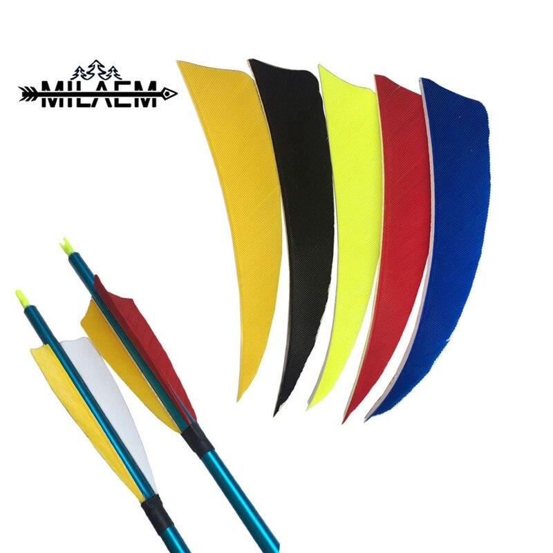 50 piezas 4 pulgadas arco pluma pavo alas derecha flecha Natural Real Fletching madera bambú flecha Accesorios