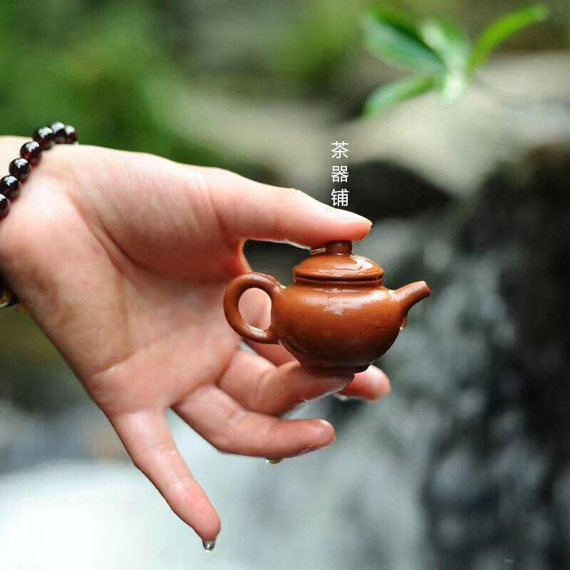 Artículos de decoración para mascotas, té, puede elevar la tetera Zisha, tetera pequeña para el dedo, juego de té Kung Fu, juego de té, decoración del hogar, juego de té mini