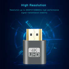 10pcs/lot 4K VGA Virtual Displayeat Dummy Plug Display Emulator Connector VGA Virtual Emulator Adapter DDC Edid For Video