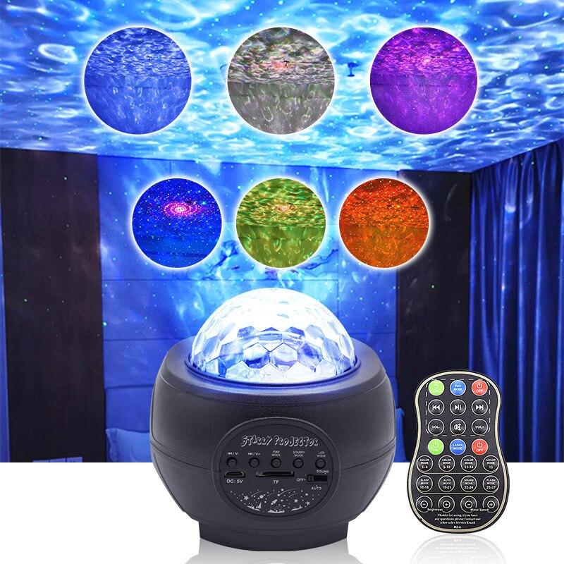 جهاز عرض LED مع صوت مجرة للأطفال ، ينتج صورة السماء المرصعة بالنجوم ، وضوء الليل المحيط ، والبلوتوث ، ومكبر الصوت ، وجهاز التحكم عن بعد