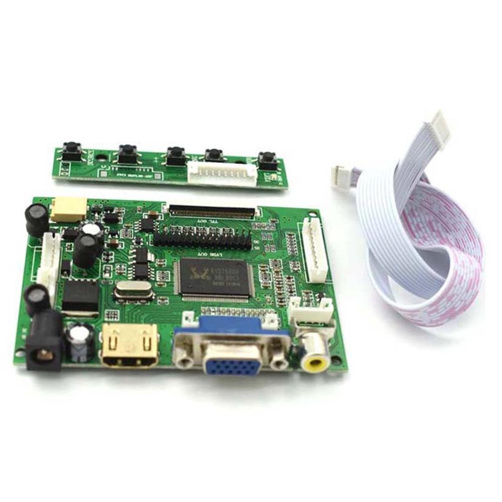 HDMI VGA 2AV LVDS ACC TTL Lcd controlador de pantalla 50pin kit para 7 8 9 pulgadas LCD Monitor frambuesa Banana Pi