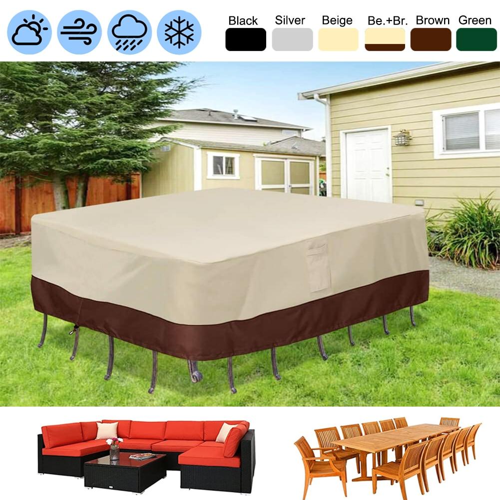 55 размеров, комплект сверхпрочной уличной водонепроницаемой мебели для патио, чехол для сада, дождя, снега, ветра, искусственная кожа для ди...