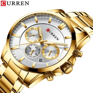 CURREN high-end brand three dial men's watch, simple style advanced feeling meeting essential watch, waterproof and durable men'