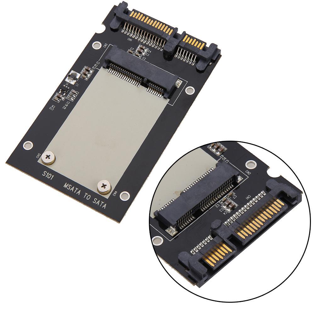 "Universal mSATA Mini SSD to 2.5"" SATA Standard 22-Pin Converter Adapter Card for Windows 2000/XP/7/8/10/Vista Linux Mac 10 OS"