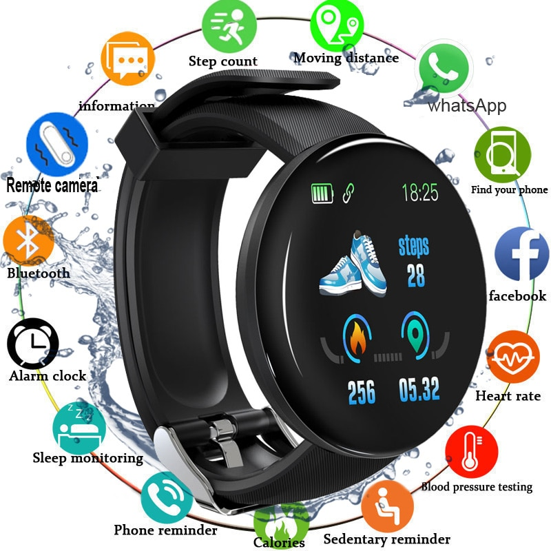 the mens' watches Sports clock Women Smart Watch Blood Pressure Heart Rate Monitor Waterproof Smartwatch Watch For Android IOS ogeda smart watch men sports bracelet led waterproof smart wrist band heart rate blood pressure pedometer clock for android ios