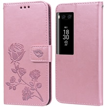 Luxury Leather Flip Book style Case for Meizu Pro 7 Plus Pro 7 M792H Rose Flower Wallet Stand Card H