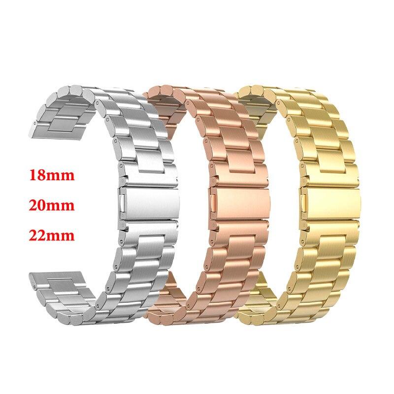 22mm 20mm 18mmCorrea de reloj de acero inoxidableCorrea para Samsung Gear S2 S3pulsera inteligente Watch LinkPara correa de repuesto Gear S2para reloj de hombre para mujer