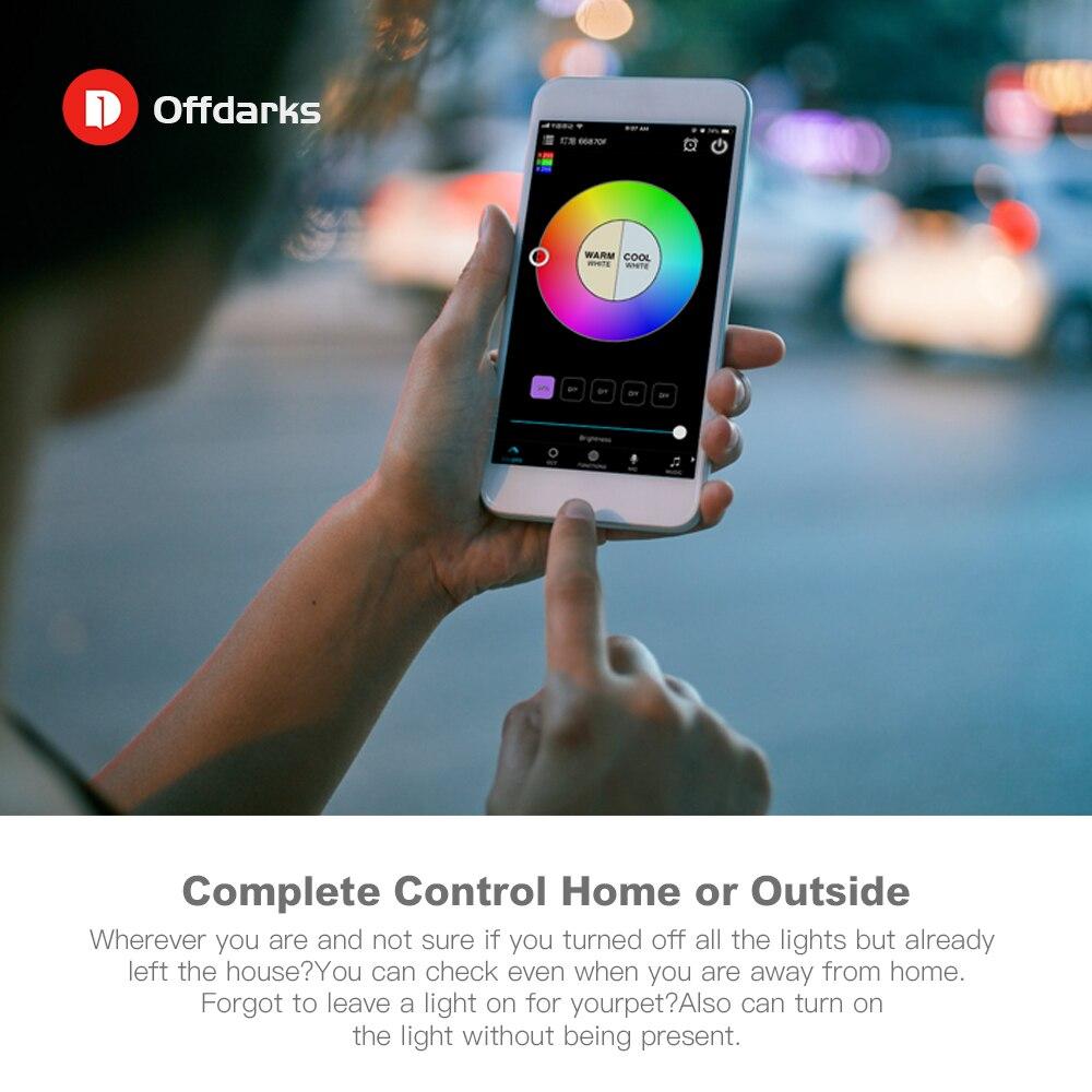 Купить с кэшбэком OFFDARKS Smart Modern LED Ceiling Light RGB 48W/60W Dimming Color wifi voice control for living room bedroom kitchen ceiling lam