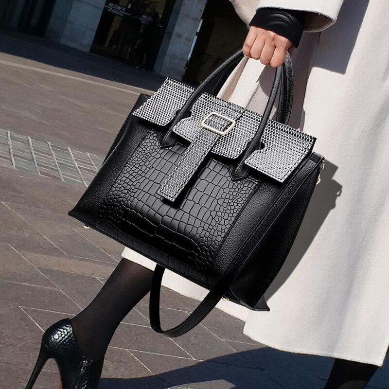 حقائب يد جلدية أصلية عالية الجودة للنساء ، حقيبة كتف واحدة ، سعة كبيرة ، عصرية ، ذات قنوات ، GG ، مجموعة جديدة 2020