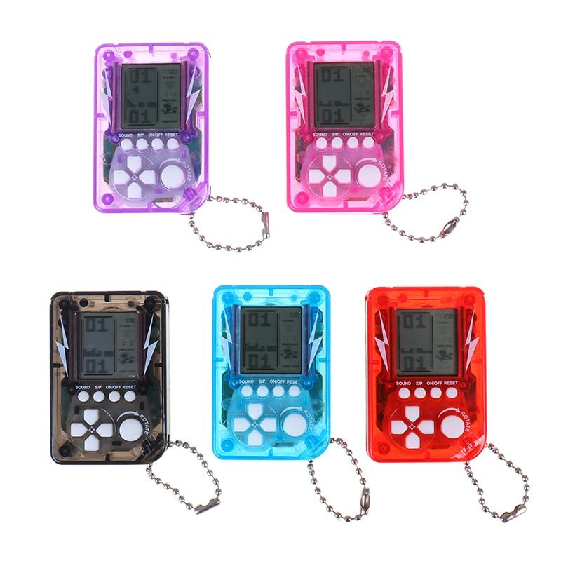 Mini máquina de juegos clásica, Mini consola de juegos Retro nostálgica de mano para niños con llavero, videojuego Tetris