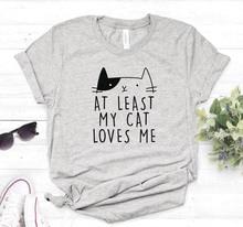 Au moins mon chat maime imprimer femmes t-shirt décontracté coton Hipster drôle t-shirt pour dame haut t-shirt 6 couleurs livraison directe BA-24