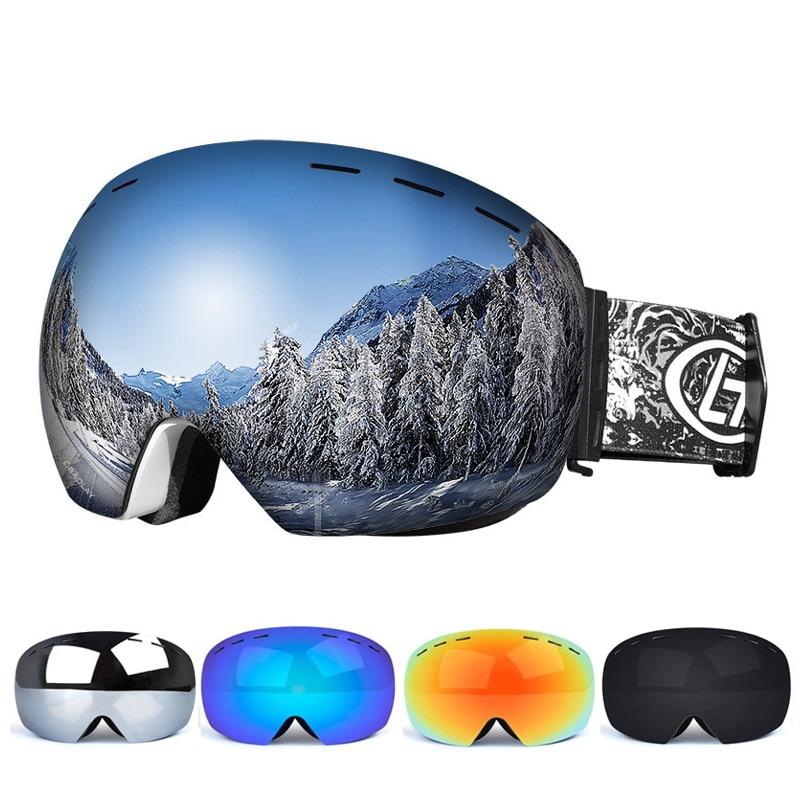 Фото - Ski Goggles Double Layers UV Anti-fog Big Ski Mask Glasses Skiing Snow Snowboard Goggles Men Women Ski Eyewear nandn ski goggles double layers uv400 anti fog big ski mask glasses skiing men women snow snowboard goggles ng5
