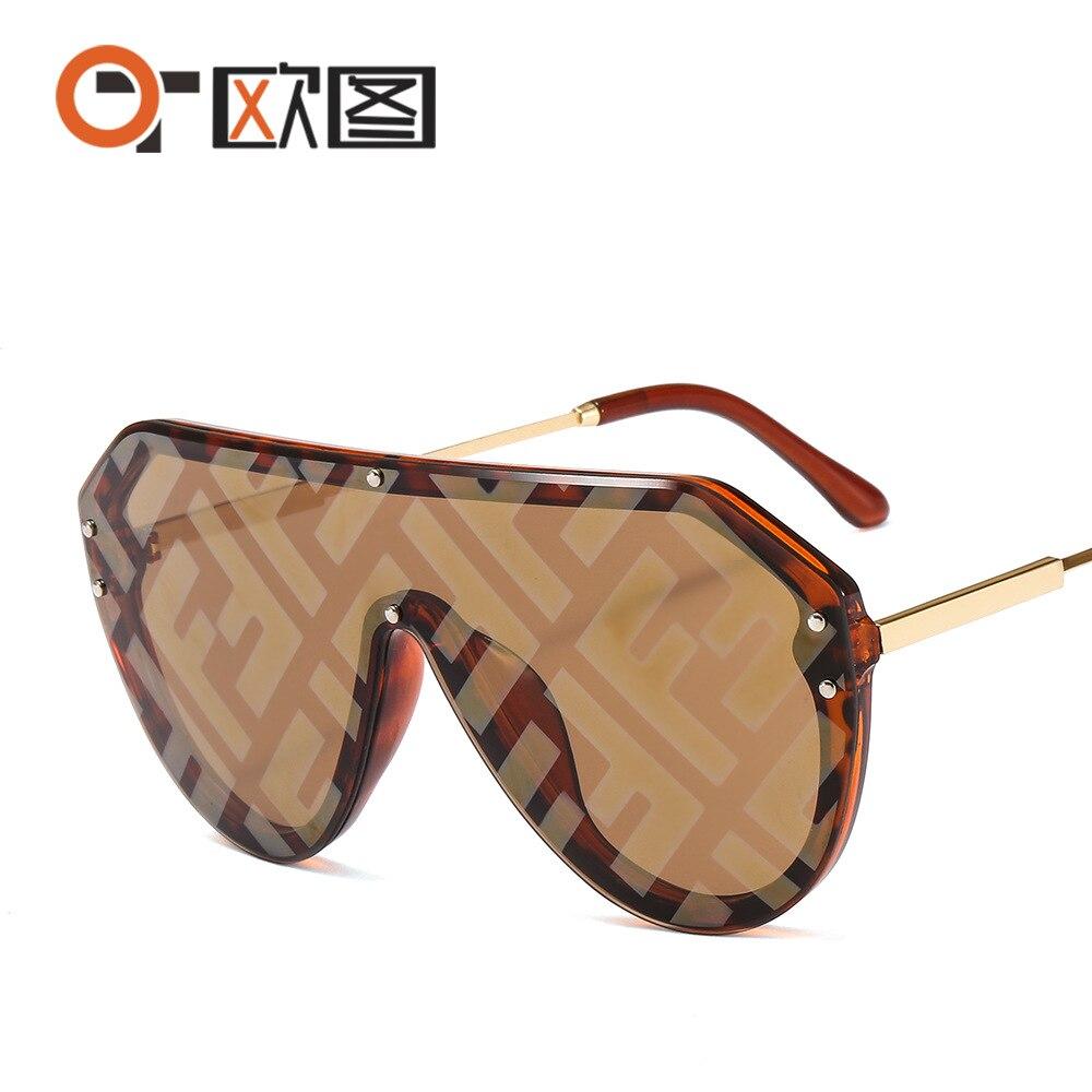 Nova chegada 2020 futurista óculos de sol feminino uv400 fendii óculos de sol grandes tons grandes para mulher oculos de sol feminino