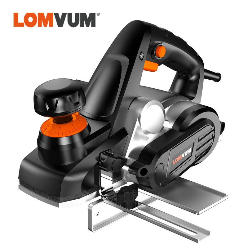 LOMVUM Electric Wood Planer For Carpenter Electric Wood Cutter 220V Power Tools With Accessories Polishing Woodworking Tools