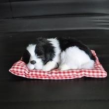 Car Ornament ABS Plush Dogs Decoration Simulation Sleeping Dog Toy Automotive Dashboard Decor Orname