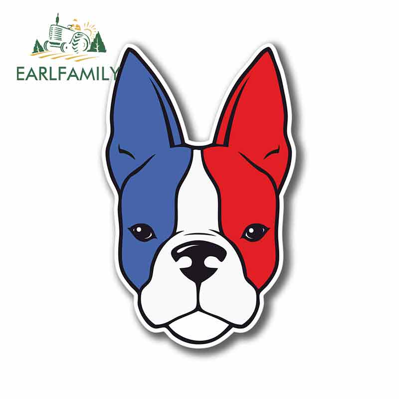 EARLFAMILY 13 см x 13 см Французский бульдог флаг Собака Любовник лапа машина, бампер, окно наклейки на заказ Печать тела для автомобиля винил автомобиля обертывание