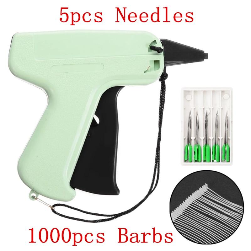 1000 púas + 5 agujas etiqueta de precio de ropa etiquetas pistola DIY ropa etiquetado pistolas herramientas costura artesanal para la lista de precios de papel