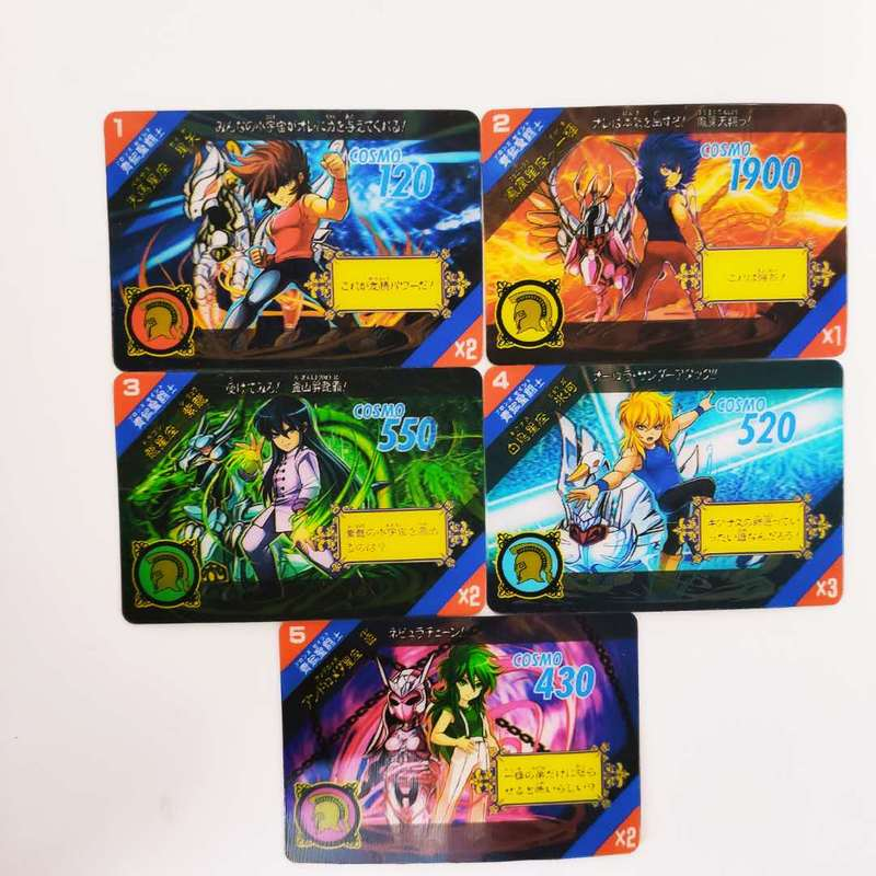 5pcs/set Saint Seiya The Five Bronze Sanits Stereo Card 3D Toys Hobbies Hobby Collectibles Game Anime Collection Card 13pcs set saint seiya golden zodiac golden soul toys hobbies hobby collectibles game collection anime cards