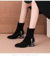 boots womens 2020 season suede rhinestone short boots womens velvet short boots size 35 40