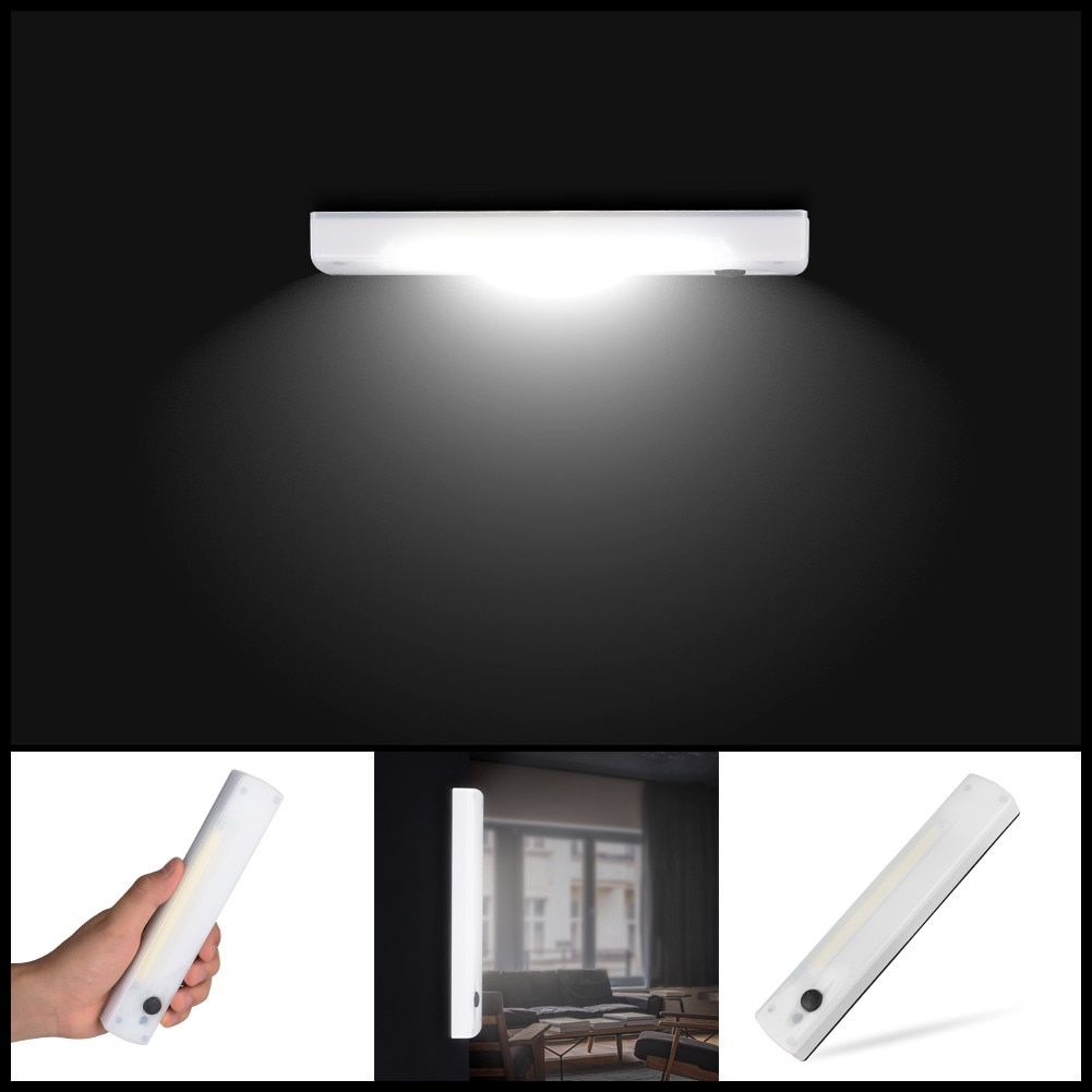 COB LED Bright Auto PIR Motion Sensor Light Cabinet Wardrobe Drawer Sensor Lamp светильник лампа X2