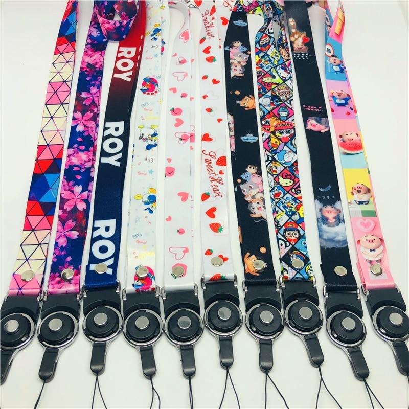 New fashion trendAnime Neck Strap Lanyard for keys ID Card Gym Mobile Phone Straps USB badge holder DIY Hang Rope