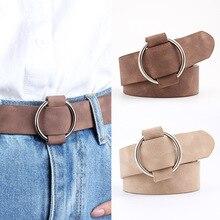 Cinturones redondos informales de diseñador para mujer, cinturones de modelado de jeans sin hebillas, cinturón de cuero, novedad de 2020