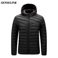 Men 2021 Winter Brand Casual Warm Jacket Men New Fashion Thick Windproof Parker Jacket Autumn Windproof Hat Parker Jacket Men