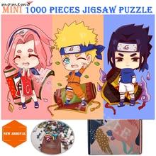 MOMEMO Naruto Puzzle dessin animé Anime en bois 1000 pièces Puzzle pour adultes mignon Uchiha Sasuke Uzumaki Naruto Haruno Sakura