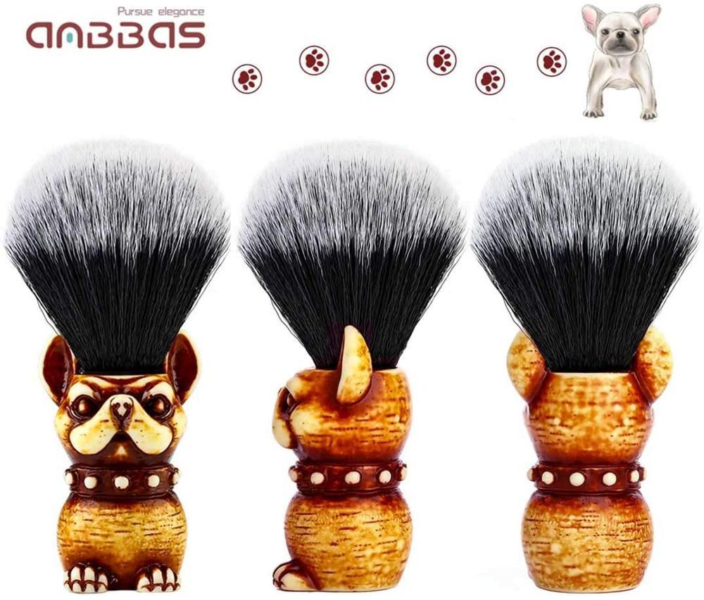 Synthetic Badger Shaving Brush Resin Handle Nylon Bristles Hair Lathering Foam Brush for Men with Travel Case Wet Shave Knot 22m
