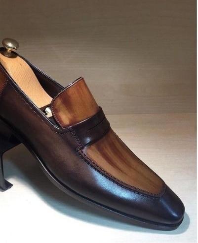 Туфли мужские классические кожаные, Классические ботильоны, перфорированная подошва, повседневная обувь, весна
