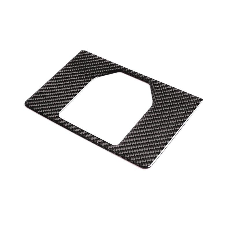 Real Carbon Fiber Interior Gear Panel Cover Trim Car Accessories Sticker For Range Rover Evoque (L551) 2019 2020