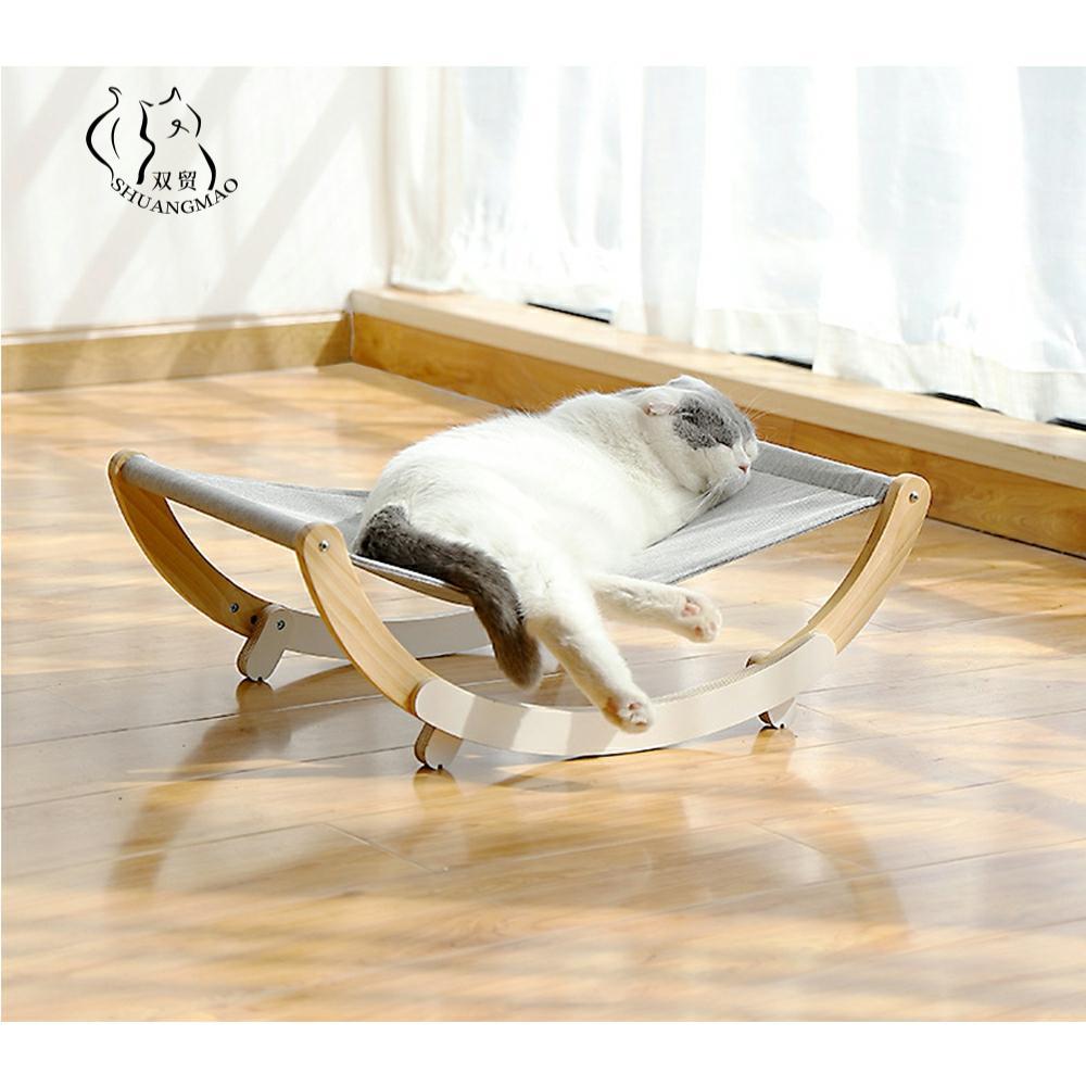 الحيوانات الأليفة القط المتسكع السرير الخشب أرجوحة ل القط منزل جرو حصيرة شنقا سرير القطط سلة صغيرة الكلب لينة أريكة نافذة الدافئة المنتجات
