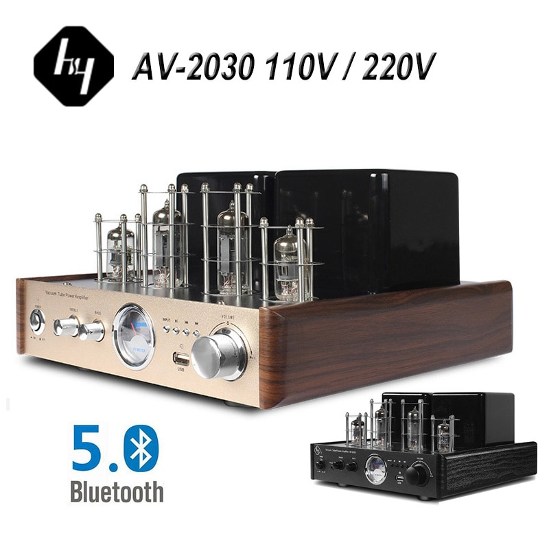 HY AV2030 ستيريو مُضخّم صوت HIFI بلوتوث بصري متحد المحور Tereo صوت ضياع موسيقى ريترو AMP 110 فولت 220 فولت عالمي