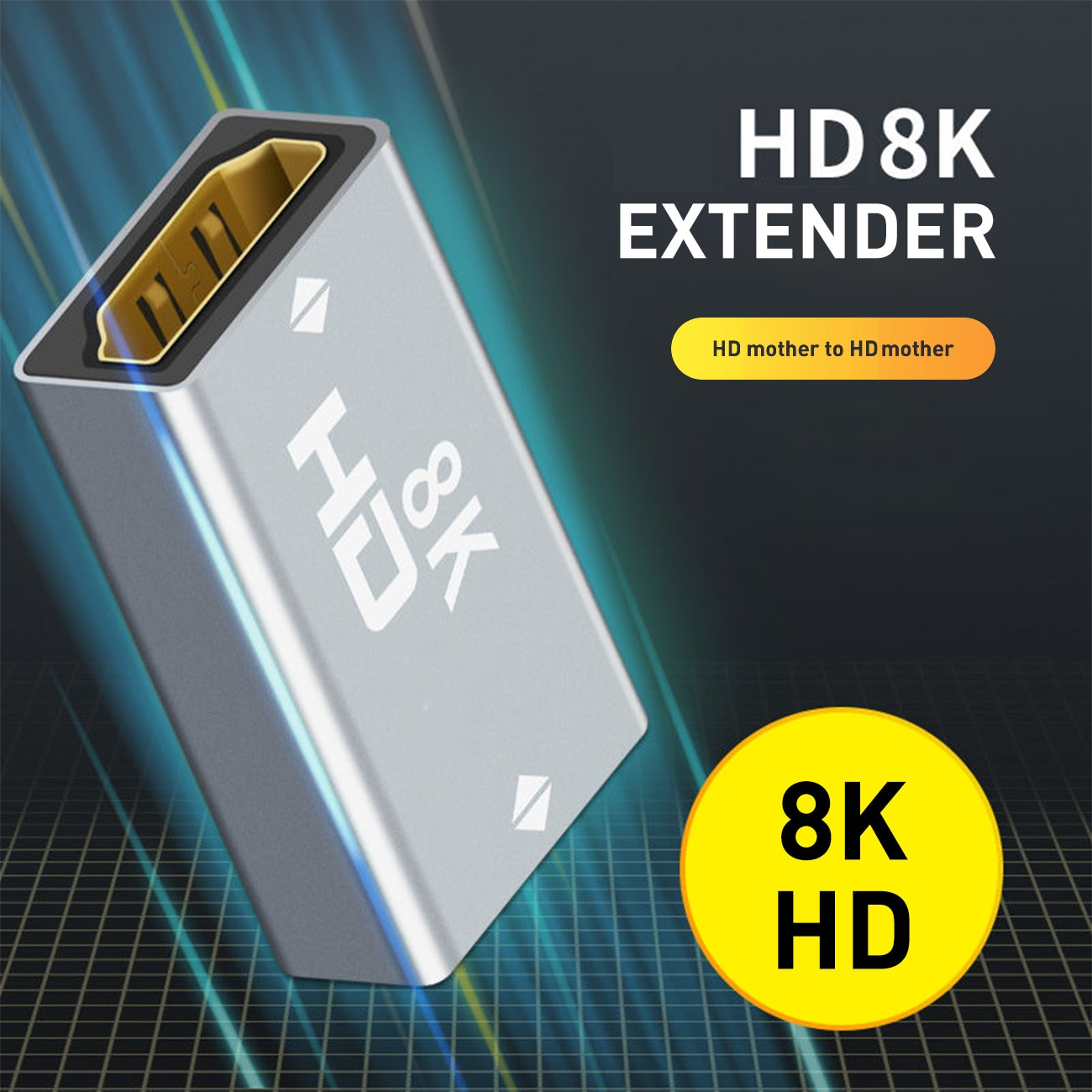 AliExpress - HD HDMI-Compatible Converter Extender Cord Extension Cable Adapter 8K@60Hz HDMI-Compatible Female to Female for PC TV Projector