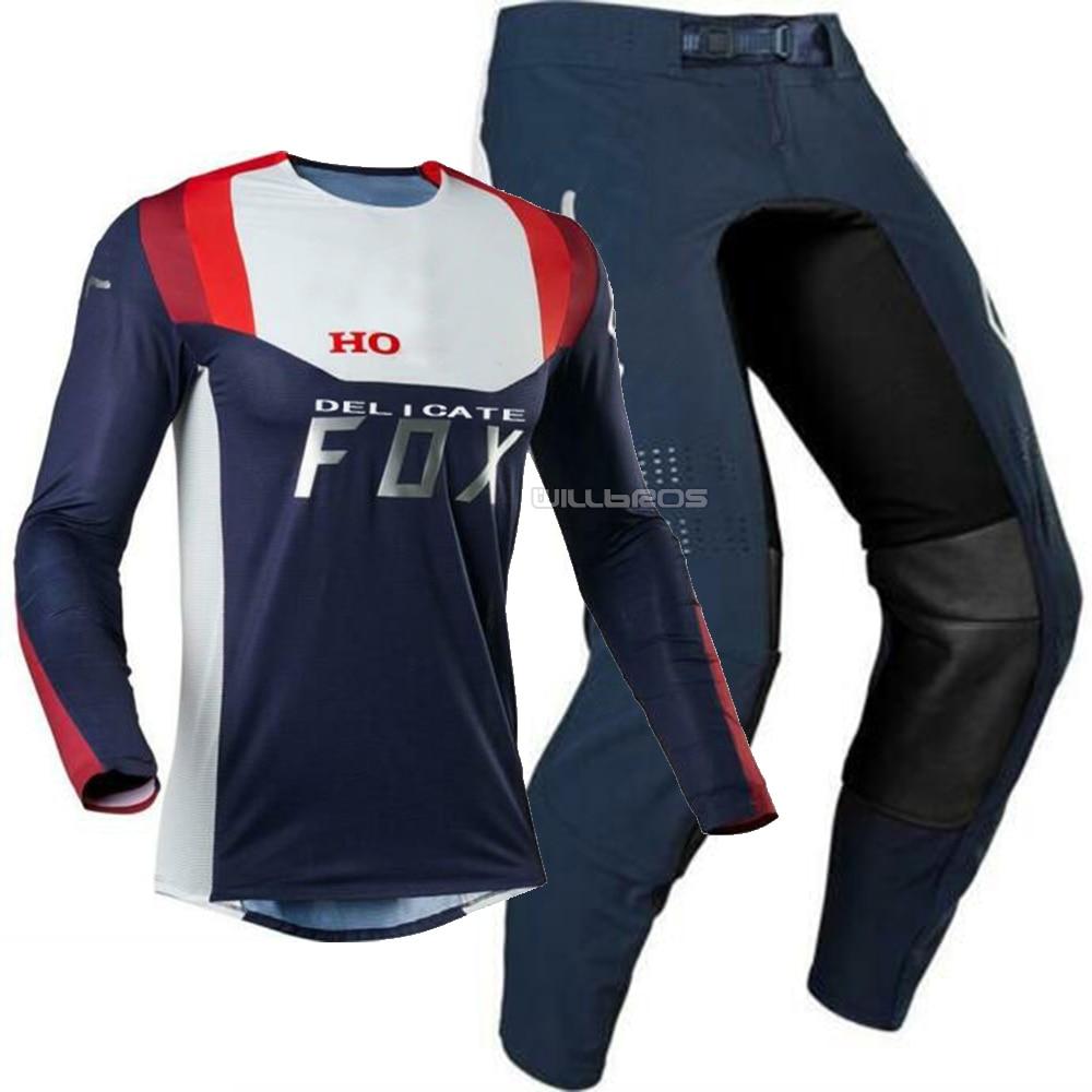 Camiseta de Motocross 180, pantalones 2020, equipo rojo marino, conjunto para Honda, motocicleta, MTB, todoterreno, traje para hombre
