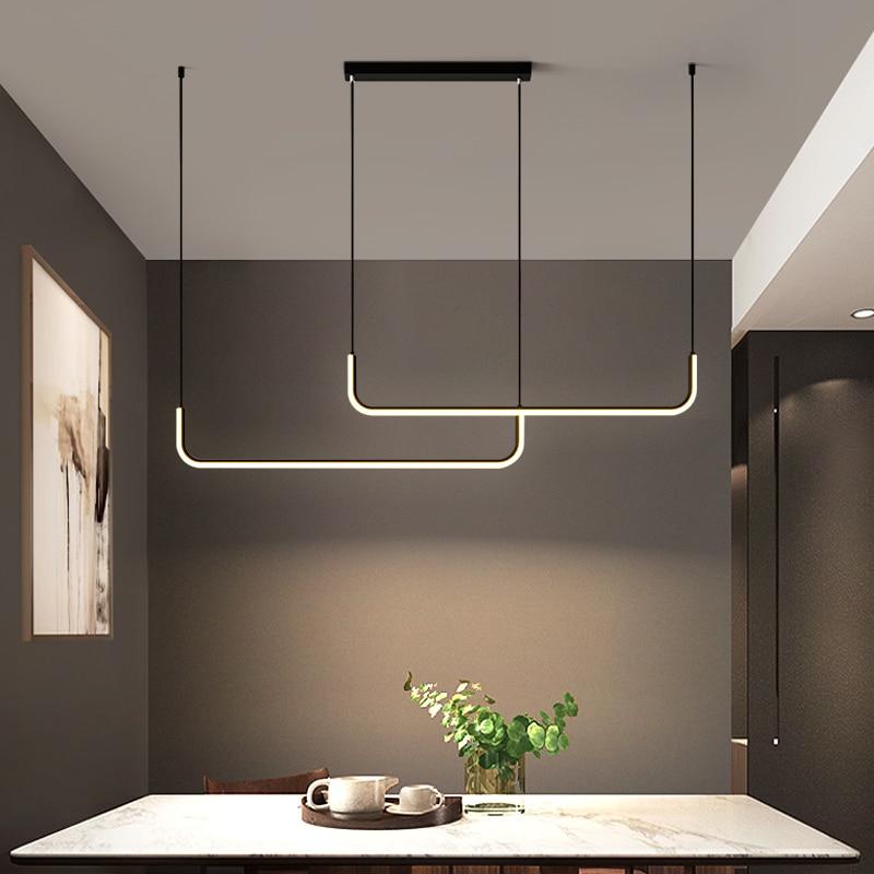 Современные светодиодные потолочные люстры с дистанционным управлением, столовые, кухонные аксессуары, подвесной светильник для украшени...