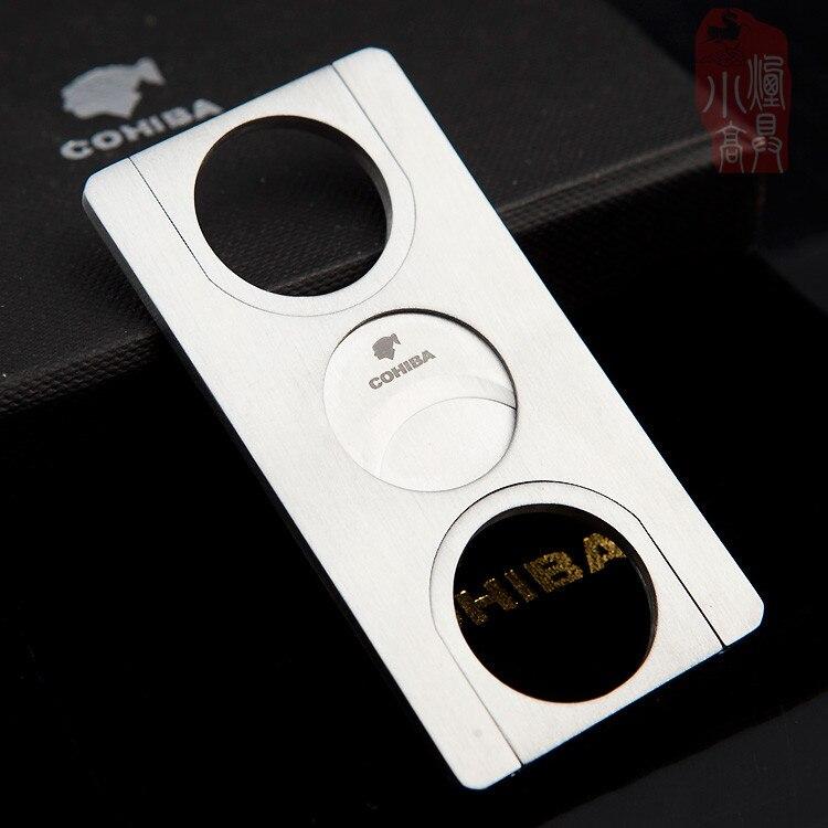 Nuevo cortador de puros cuadrado Cohiba guillotina de 1 Uds. Cortapuros de acero inoxidable, accesorios para puros Cuba c431