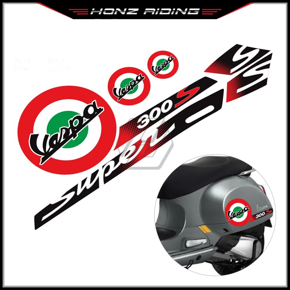 Para piaggio vespa gts 300 super esporte reflexivo adesivo da motocicleta decalque