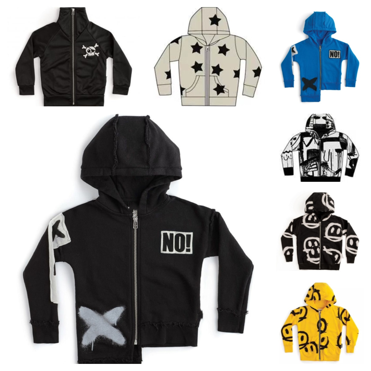 N-Spot 2020 autum ad witer ew boys' cotto fashio prited sweater