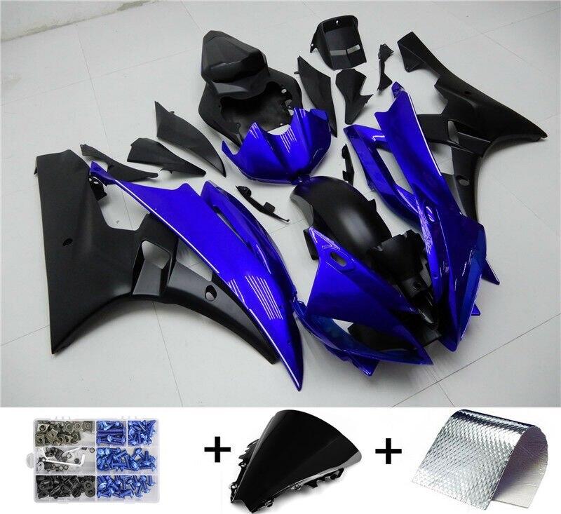 Moto Fairing حقن البلاستيك طقم الجسم يصلح لياماها YZF-R6 2006 2007 أزرق أسود هيكل السيارة